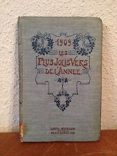 Antique 1909 Les Plus Jolis Vers De L'Annee Best / Greatest Poems of The Year