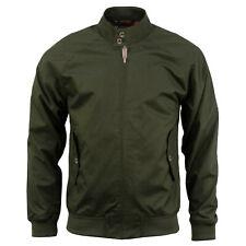 Mens Harrington Jacket Stallion Vintage Classic Retro Zip Bomber Coat 1970's New