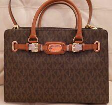 NWT Michael Kors Large Brown Hamilton PVC EW Tote Shoulder Bag MK Signature $428
