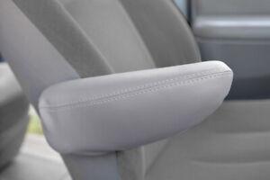 Fits 1996-2007 Dodge Gran Caravan PVC Leather Front Seat Armrest Cover Gray