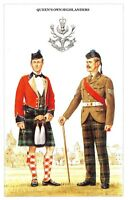 Postcard The British Army Series No.50 Queen's Own Highlanders by Geoff White