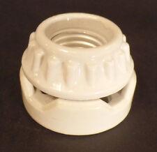 New Medium Base E26 Glazed Porcelain 2 Piece Ring Type Sign Edison Socket #SO719