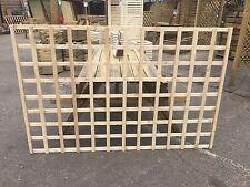 6x4 Heavy Duty Squared Trellis Fence Topper Lattice RAW Wood RRP £30