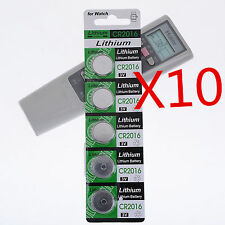 10x CR2016 Batteries CR 2016 DL2016 ECR2016 3V Button Coin Cell Pack  HOT