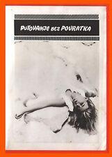 Mistenka Bez Navratu Putovanje Bez Povratka CZECH Jarzina  Seybalova 1965 Film