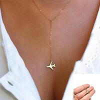 Heiß Frau Kette Kleiner Flugzeuganhänger Geschichtet Y-Form Halskette
