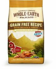 23lbs Whole Earth Farms Grain Chicken Turkey Recipe Dry Dog Food Distressed