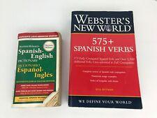 Webster English Spanish Dictionary Translation Paperback Travel Education Lot 2