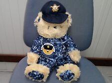 AUSTRALIAN RAAF AIR FORCE TEDDY BEAR 36CM - CUTE BEAR IN NEW BLUE CAMO UNIFORM