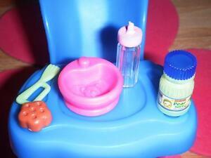 Barbie Little Krissy Feeding Dish Pink Rement Pear Juice Baby Food Dollhouse Lot
