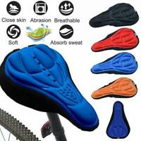 3D Silicone Gel Bike Seat Cover Soft Comfort Cycling Bicycle Saddle Pad Cushion