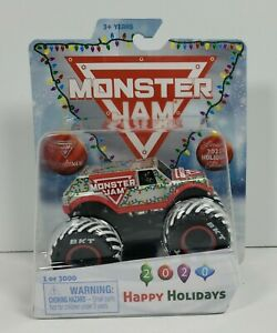 Spin Master Monster Jam 2020 Happy Holidays Christmas Exclusive Truck 1/3000
