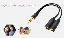 3.5mm Stereo Audio Splitter Jack Earphone Headphone 2 Way Adapter Y-Cable Lead