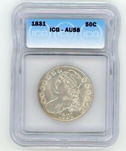 1831 ICG AU58 Bust Half Dollar
