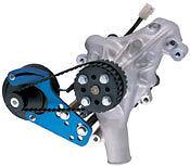 Universal Aluminum Electric Water Pump Kit Billet Blue