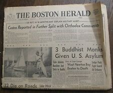 September 2 1963 Boston Herald Newspaper - Klu Klux Klan,Castro,Harvard Football