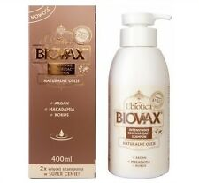 L'BIOTICA BIOVAX NATURALS OILS ARGAN, MACADAMIA, COCONUT SHAMPOO 400 ML - LIMIT