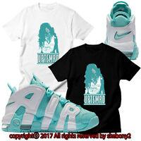 NEW CUSTOM TEE Nike Air More Uptempo matching T SHIRT UTP 1-9-14 ISLAND GREEN