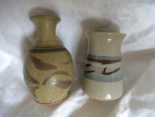 pair studio pottery bud vases Dartmouth & POG 2 collectables