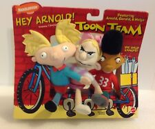 Hey Arnold Nickelodeon Toon Team 1997 Plush Set. Very Rare!!! New In Package!
