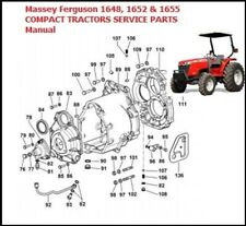 Massey Ferguson Mf 1648 1652 Amp 1655 Compact Tractors Service Parts Manual