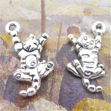 20pc Tibetan Silver Cat Animal Pendant Charms Retro bracelets Jewelry  GU1117