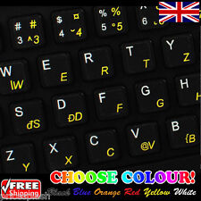 Romanian Transparent Keyboard Stickers for Laptop Notebook Computer - 6 Colours