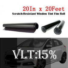 "Uncut Window Tint Film Shade 15%VLT 20"" In x20 Ft for Chevrolet Cars CHEVY Glass"