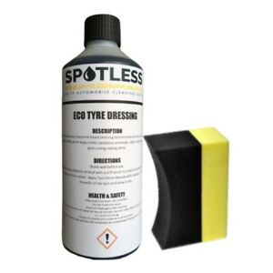 1L Car Tyre Dressing & Applicator Shine Rubber Super Wet Look Plastic Trim Valet