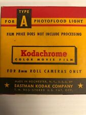 Kodachrome Type A Eastman Kodak Color Movie Film 8mm Expiration Oct. 1959