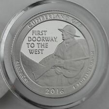 2016-S Cumberland Gap Clad Proof Quarter in Crystal Clear Coin Capsule