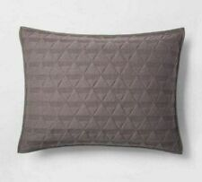 Project 62 Nate Berkus Gray Triangle Stitched Quilted Pillow Standard Sham NEW