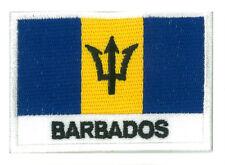 Patch écusson patche drapeau Barbade Barbados 70 x 45 mm brodé