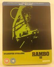Rambo III  [blu-ray+dvd] Steelbook UK Zavvi Exlusive Fr/Ger/Sp/Por  New