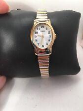 Timex Cavatina Ladies2Tone Classic Expansion Stretch Band Dress Watch T2m570-H65