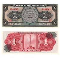 Pick 59j Mexiko / Mexico 1 Pesos 1967 Unc. / 3712544vvvv.