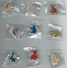 Lot#4 With 9 McDonalds TY Teenie Beanie Babies Pins - No Duplicate - NEW