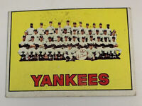 1967 New York Yankees Team # 131 Topps Baseball Card NY