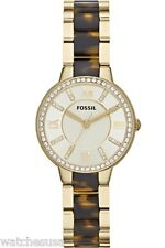 Fossil 30mm Virginia Tortoise Acetate and Gold-tone Ladies Watch ES3314