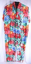 Size 1X Patio Lounge Wear Robe Patio Dress Caftan Floral MuuMuu Vtg Catherines