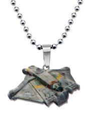 Star Wars Rebels Graphic Ghost Ship Cut Out Kids Pendant Necklace