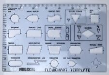 Vintage Helix H77 Flowchart Template Stencil For Design Technology Drawing
