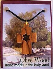 Olive Wood Cross and Star of David