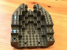 LEGO 6053c05 @@ Boat Hull Small Stern 14 x 12 x 5 1/3, Top Dark Gray - 6268 6271