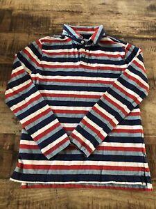J Crew Crewcuts Boy's Cotton Long Sleeve Shirt Collar Sz 10