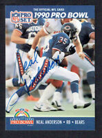 Neal Anderson #380 signed autograph auto 1990 Pro Set Football Trading Card