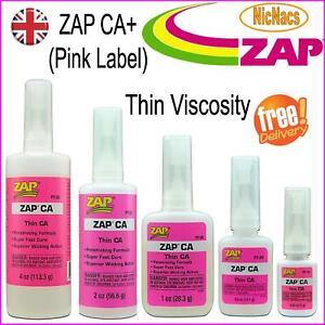 ZAP CA+ Glue (Pink Label) Super Thin Viscosity Fills Gaps Bonds Models Repairs