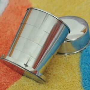 Portable Outdoor Travel Stainless-Steel Folding Telescopic Collapsible Mug Hot