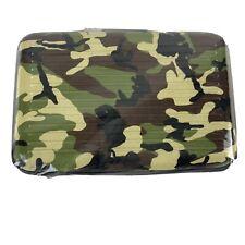 Camo Aluminum Hard Case Bi-Fold Accordion ID Case & Credit Card Wallet 22100