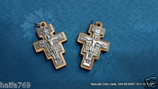 Lot 100 Crosses  wood and metal Jerusalem work for necklace Holy Land gift